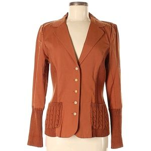 Sundance Terracotta Cotton/Wool Blazer, 8.